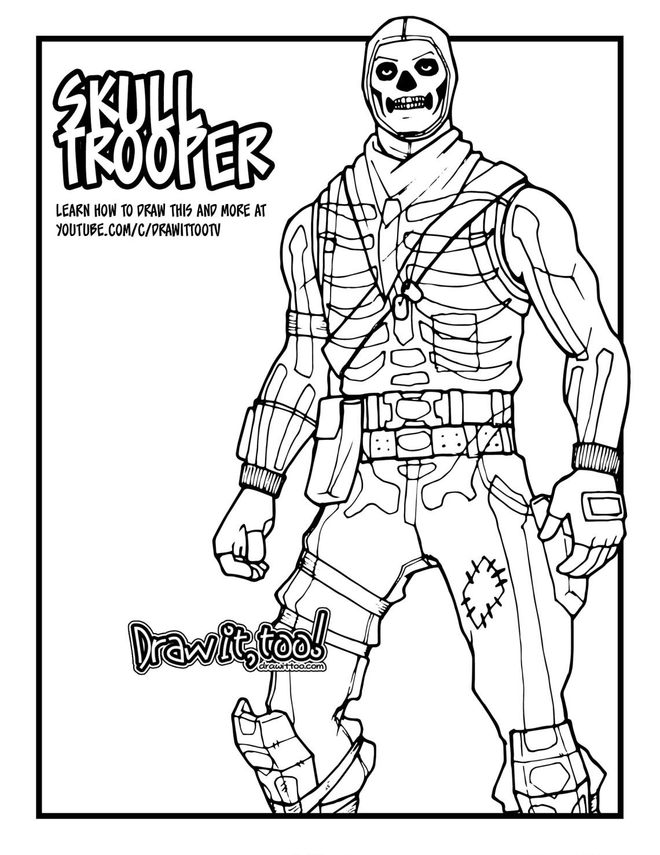 How to Draw SKULL TROOPER (Fortnite: Battle Royale ...