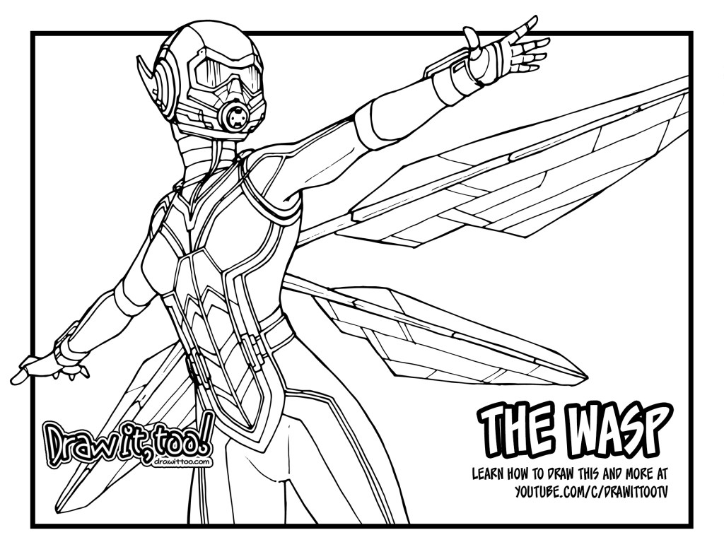wasp avengers coloring pages - photo#16
