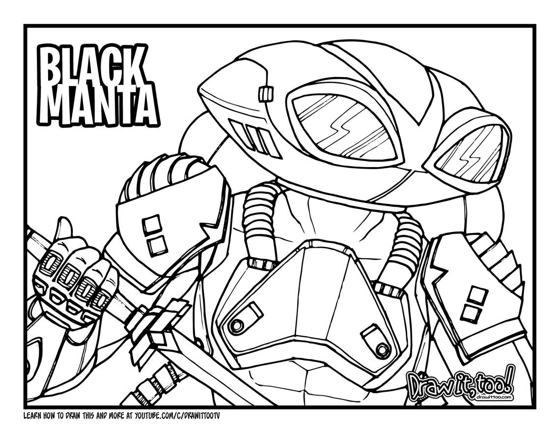 How to Draw BLACK MANTA (Aquaman) Drawing Tutorial   Draw ...