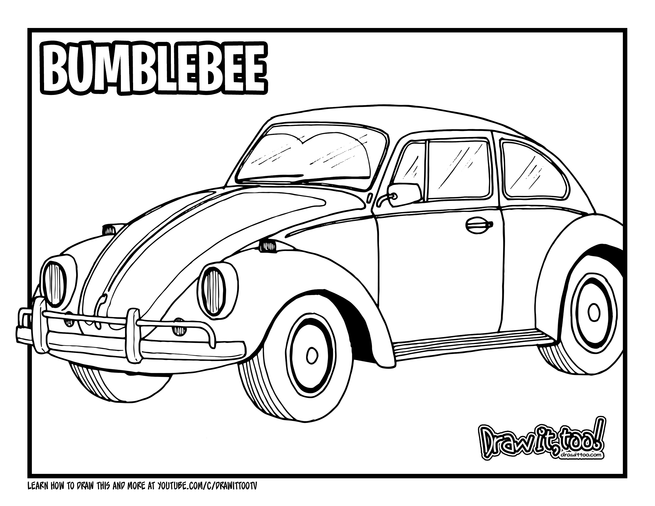 Supercars Gallery Easy Beetle Car Drawing