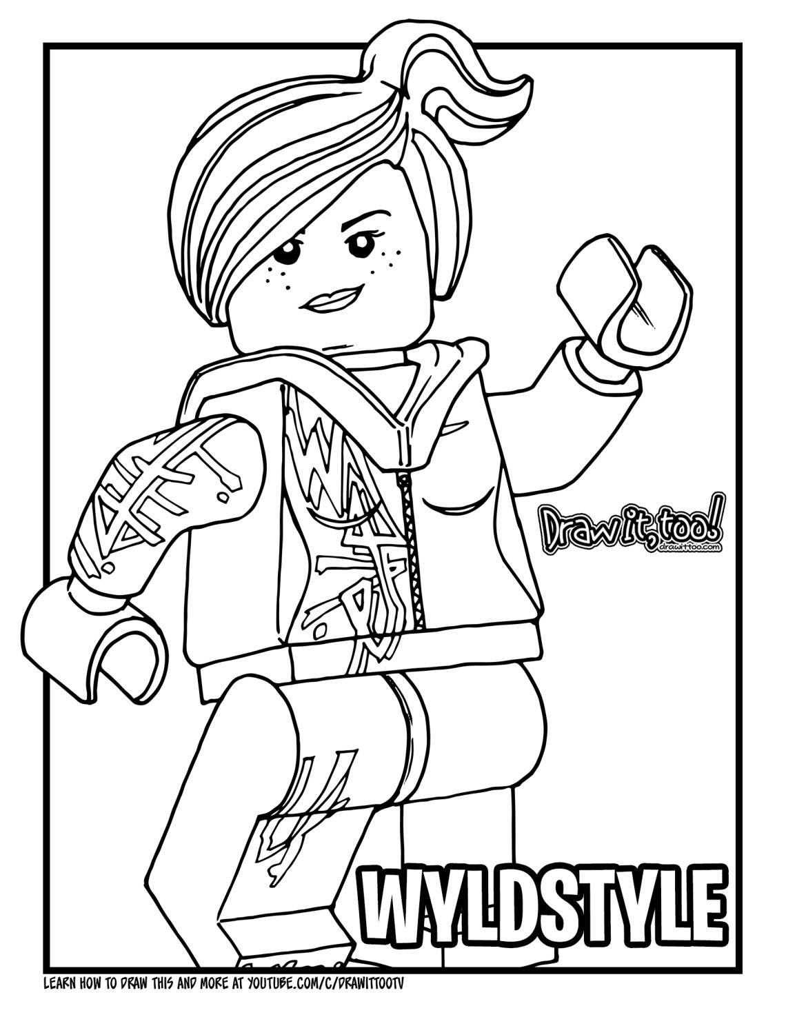 Download the wyldstyle coloring page here