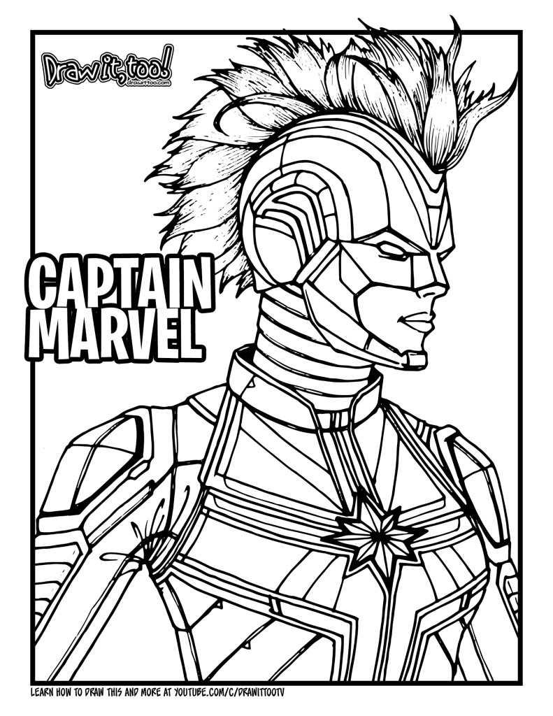 captain marvel coloring pages - photo#4