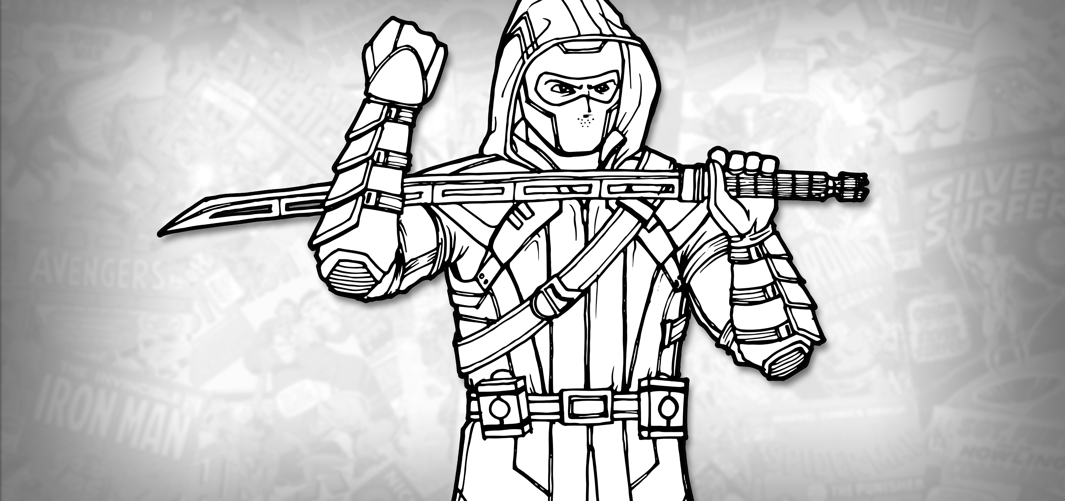 How To Draw Ronin Hawkeye Avengers Endgame Drawing Tutorial