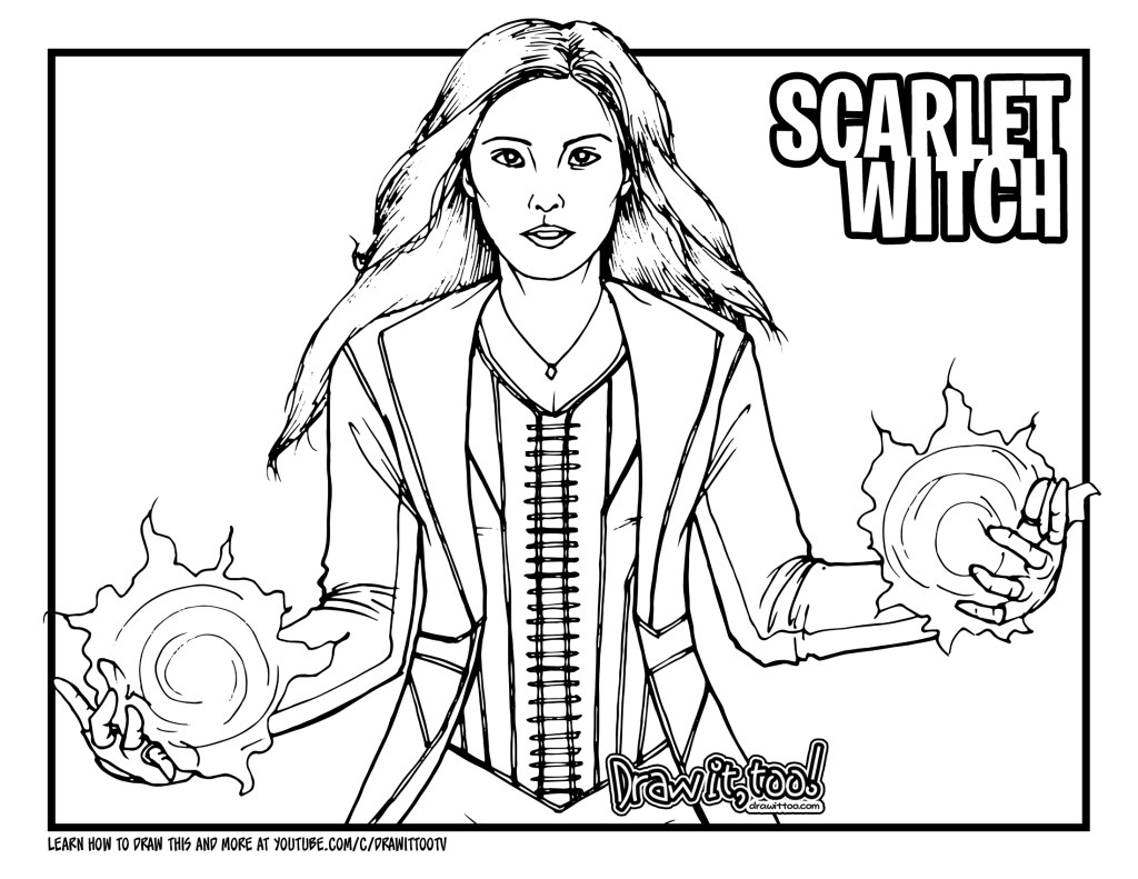 enchantress marvel coloring pages - photo#44