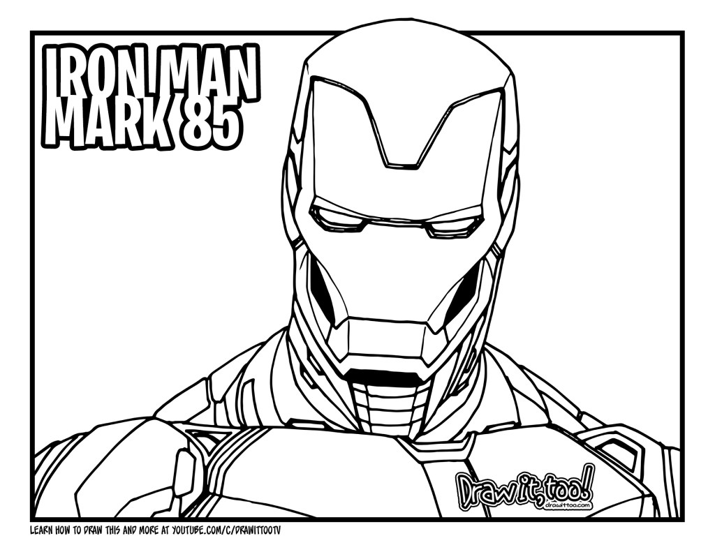 How to Draw IRON MAN MARK 85 (Avengers: Endgame) Drawing ...