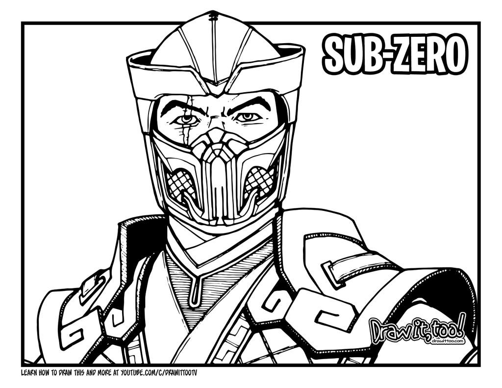 How to Draw SUB-ZERO (Mortal Kombat X) Drawing Tutorial ...