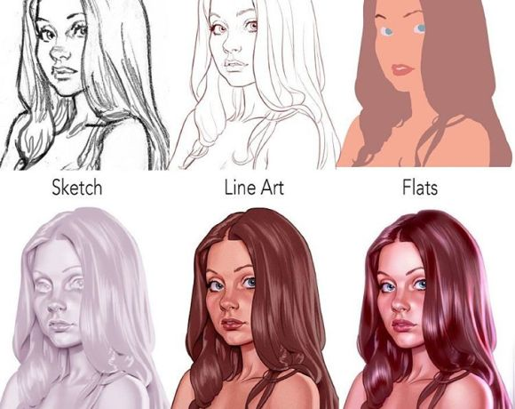 Photoshop painting process by Chris Wahl