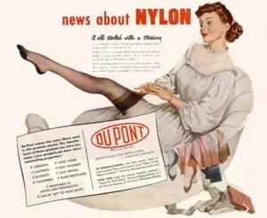 Invention du Nylon par Du Pont de Nemours