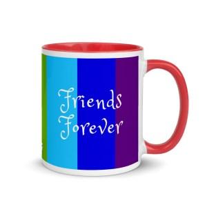 'Friends Forever' – mug with color inside