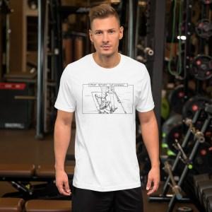 'Caught Between Wardrobes' Short-Sleeve Unisex T-Shirt