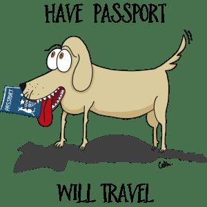 'Have Passport Will Travel' – tshirt