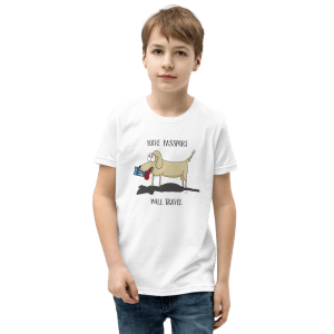 'Have Passport Will Travel' – kid's tshirt