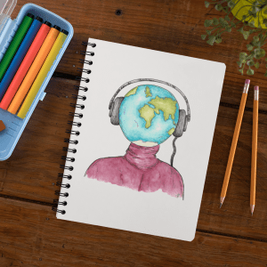 'The Global Mind' A5 notebook