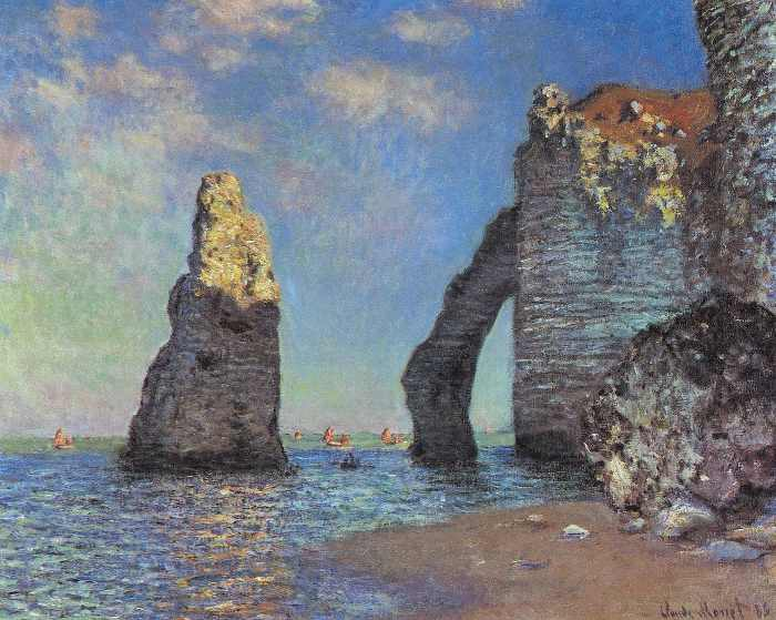 Claude Monet, The Cliffs at Etretat, 1855