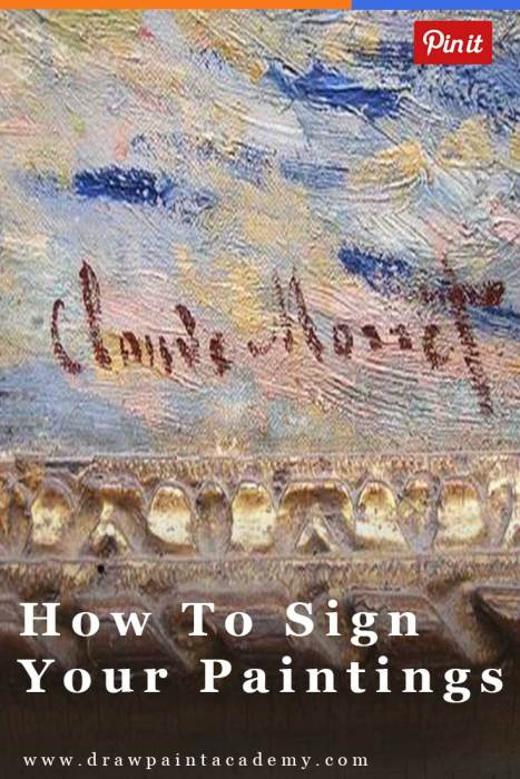 How to sign your paintings