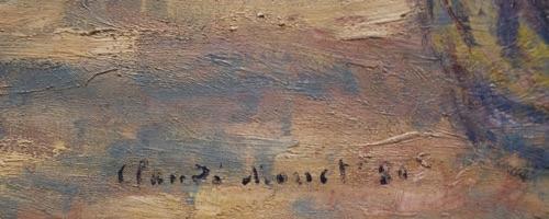 signature of claude monet