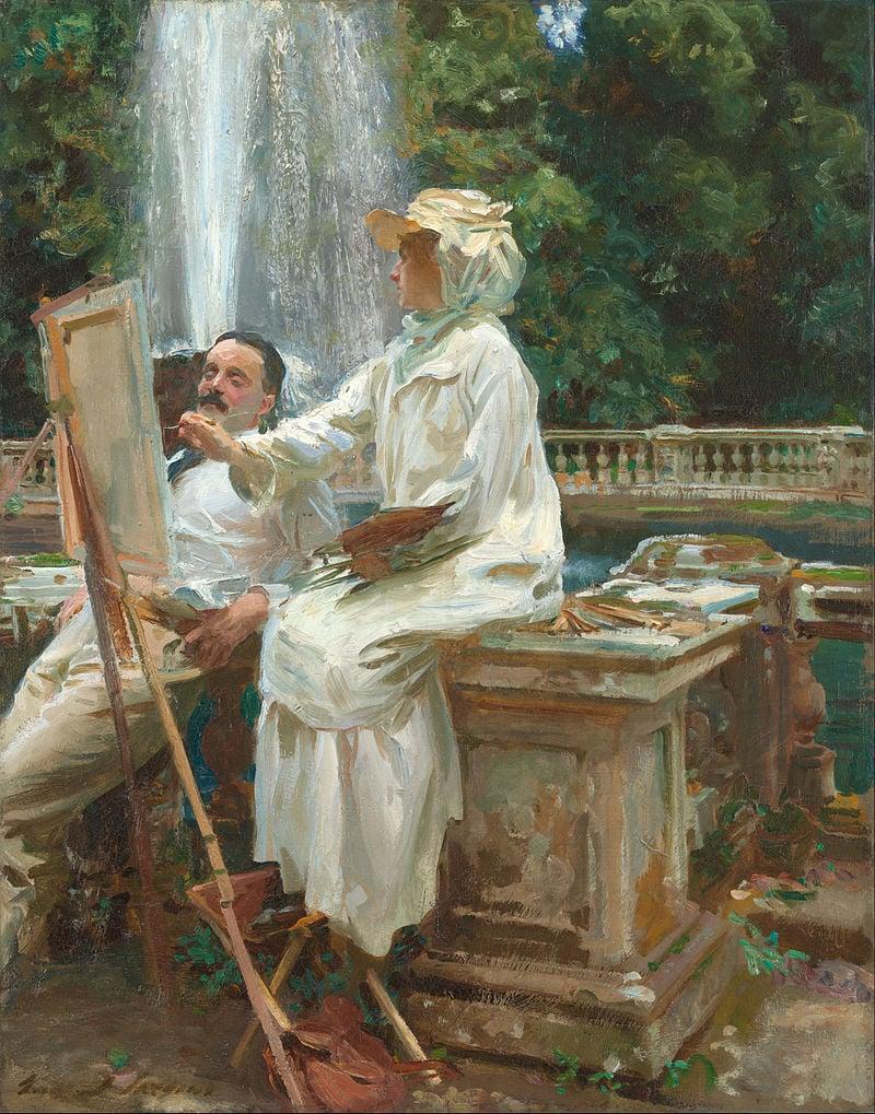 John Sargent, Fountain, Villa Torlonia, Frascati, Italy, 1907