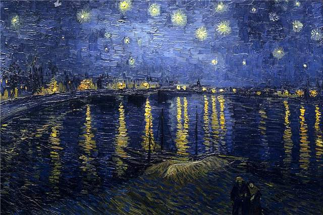 Starry Night Over The Rhone, Vincent van Gogh, Oil, 1888