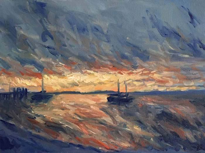Fraser Island (Study), Oil On Canvas, Daniel Scott
