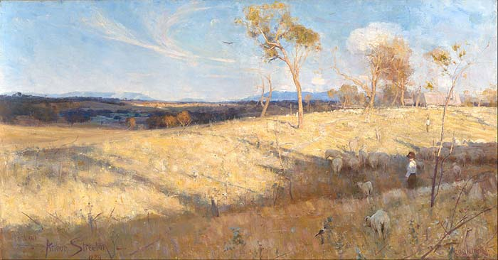 Aurthur Streeton, Golden Summer, Eaglemont, 1889, National Gallery of Australia