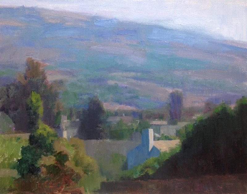 Ari Targownik, Mid-day Mountain, 14x11 Inches