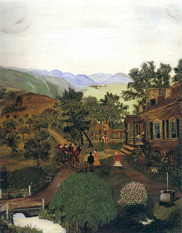 Grandma Moses, Shenandoah Valley (1861 News of the Battle), 1938