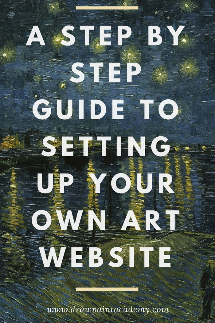 Learn how  to set up your very own art website to showcase your artwork