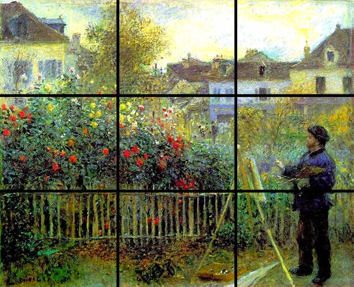 Monet painting in his garden at Argenteuil, Pierre-Auguste Renoir, 1873