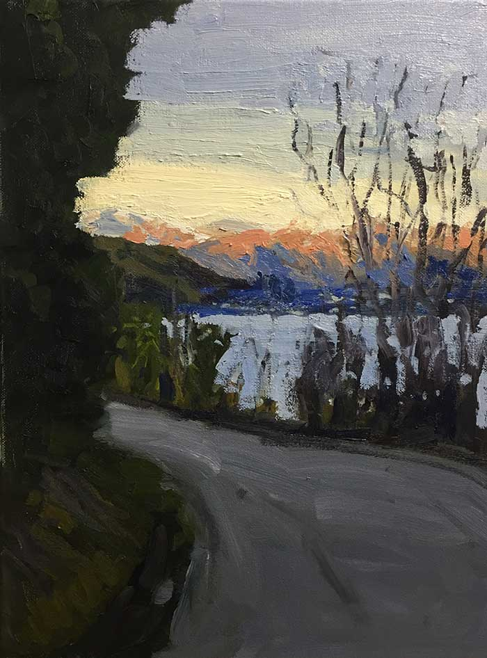 Progress Shot 12, Step By Step Painting Tutorial - Afternoon In Queenstown