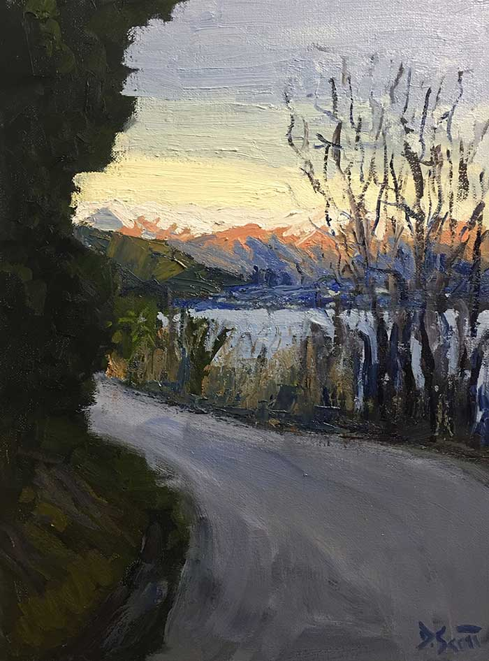 Painting Tutorial – Afternoon In Queenstown, New Zealand