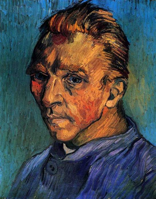 31. Vincent van Gogh, Self Portrait, 1889