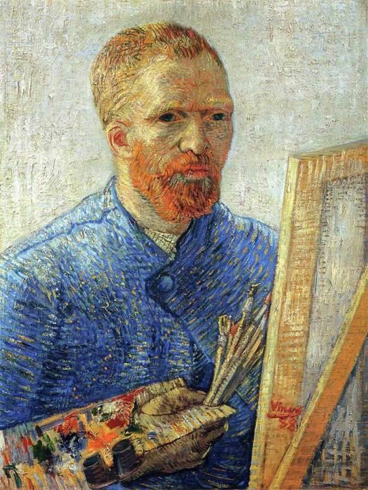32. Vincent van Gogh, Self Portrait As An Artist, 1888