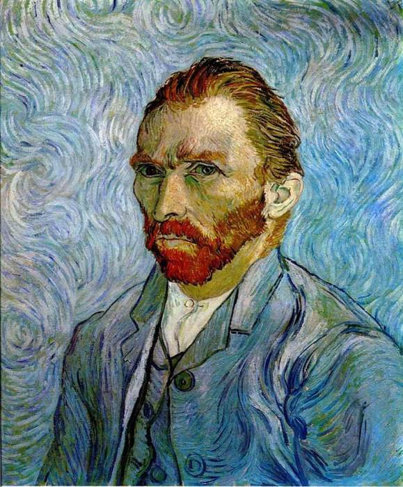 39. Vincent van Gogh, Self-Portrait, 1889