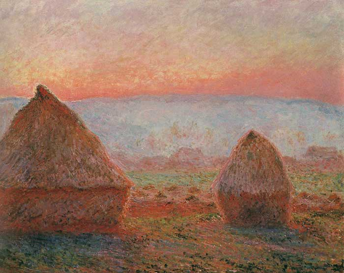 Claude Monet, Haystacks At Giverny, The Evening Sun, 1888