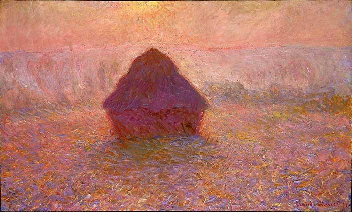 Claude Monet, Haystacks, Sun in The Mist, 1891