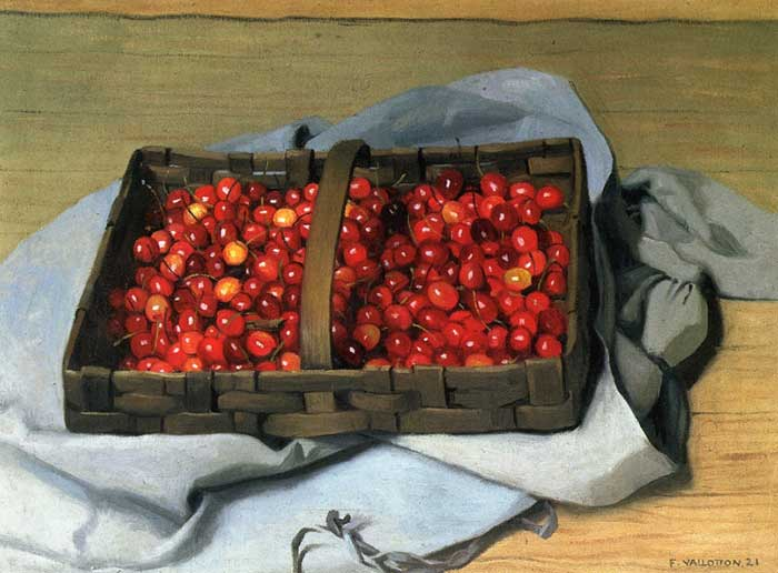 Felix Vallotton, Basket Of Cherries, 1921