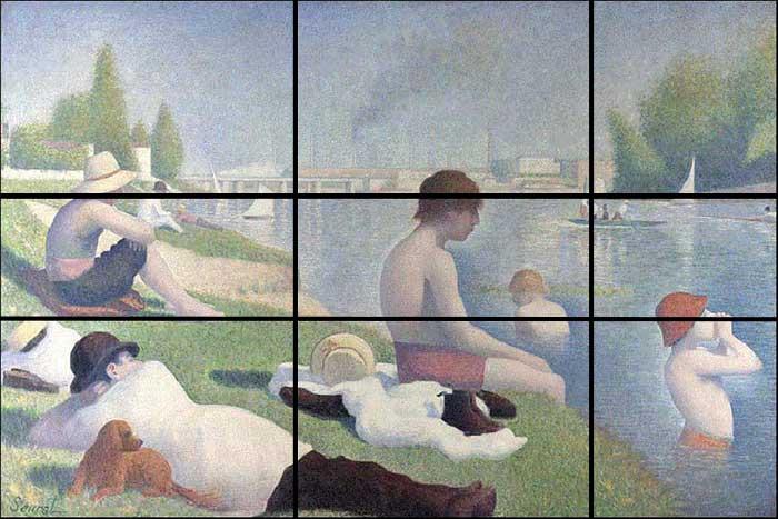 Georges Seurat, Bathers at Asnières, 1884