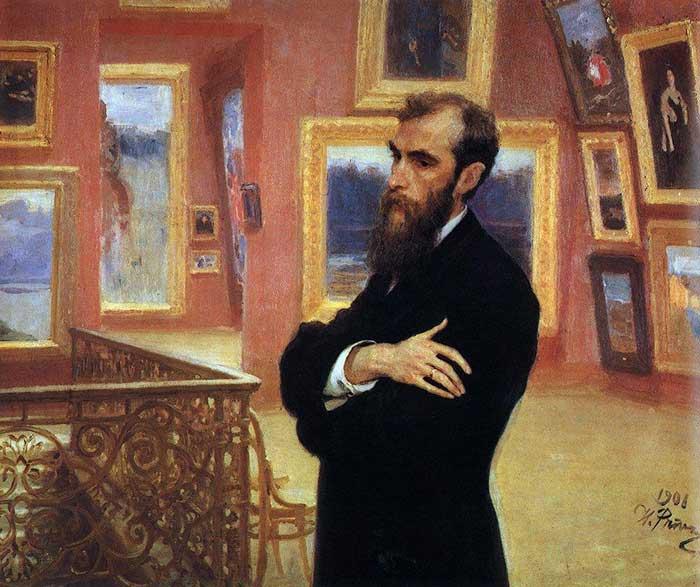 Ilya Repin, Portrait Of Pavel Tretyakov, Founder of The Tretyakov Gallery, 1901