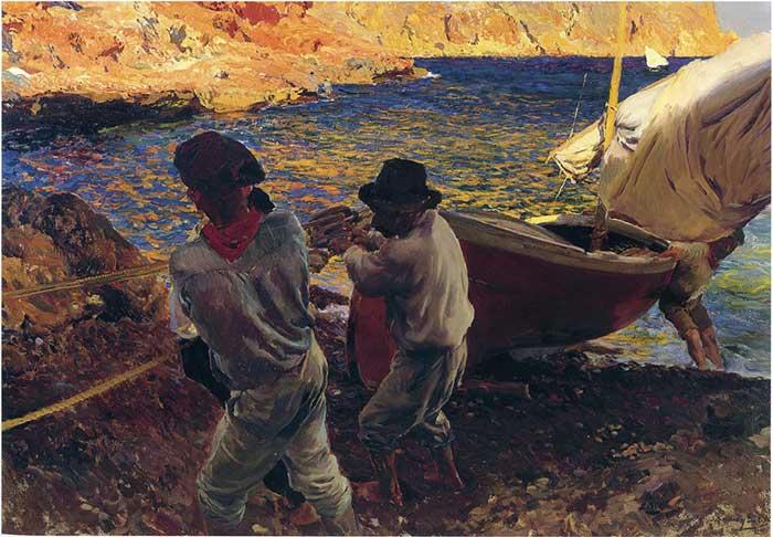 Joaquin Sorolla, End Of The Day, Javea, 1900