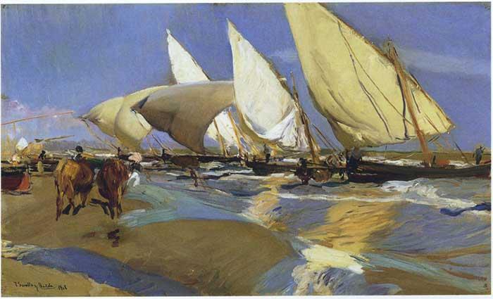 Joaquin Sorolla, Return From Fishing, 1908