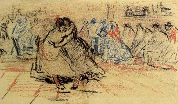 Vincent van Gogh, Couple Dancing, 1885