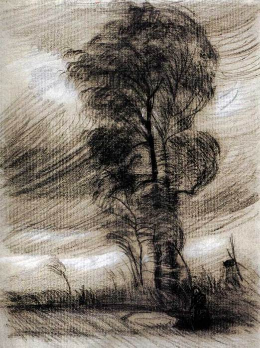 Vincent van Gogh, Landscape In Stormy Weather, 1885