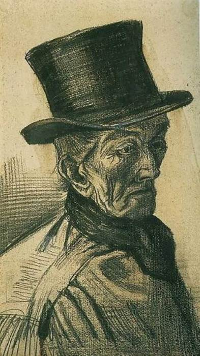 Vincent van Gogh, Man With Top hat,1882