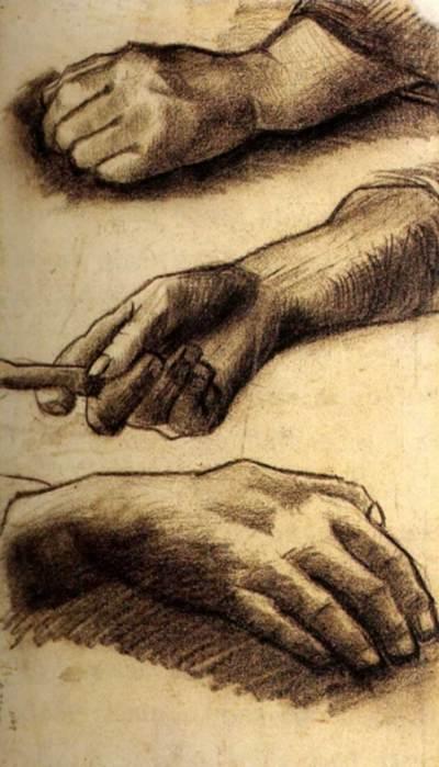 Vincent van Gogh, Three Hands, 1884