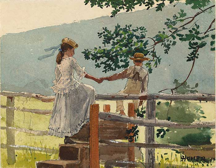 Winslow Homer, On The Stile, 1878