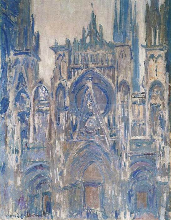 1. Claude Monet, Rouen Cathedral, Study Of The Portal, 1892