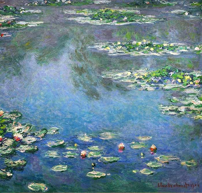 21. Claude Monet, Water Lilies (4), 1906