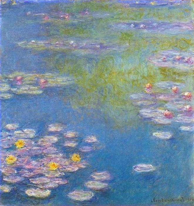28. Claude Monet, Water Lilies, 1908