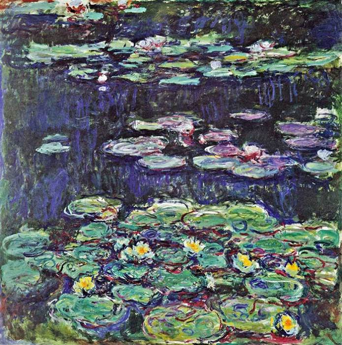 34. Claude Monet, Water Lilies (3), 1914