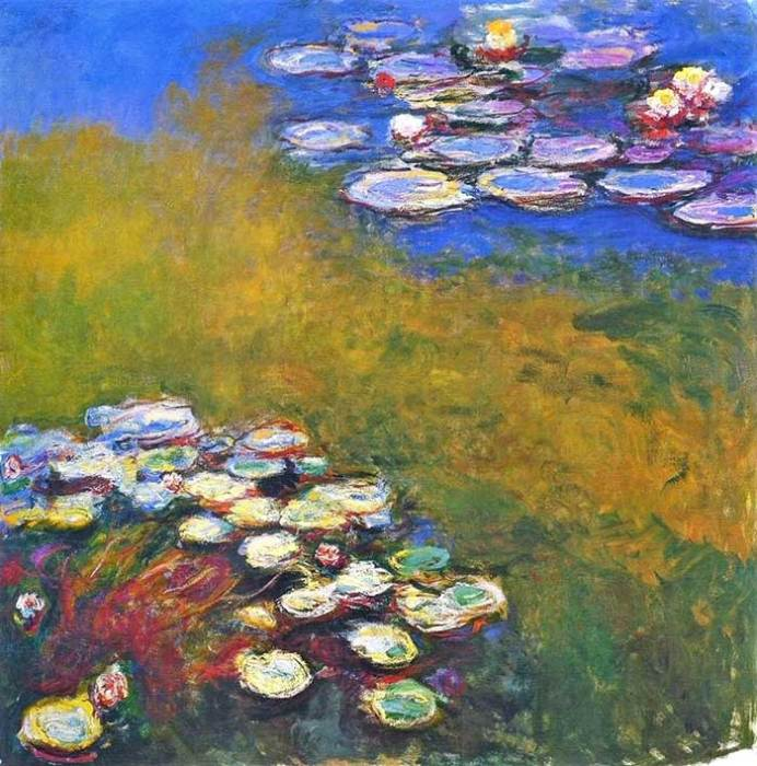35. Claude Monet, Water Lilies, 1914-1917